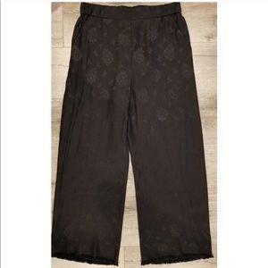 3.1 Phillip Lim silk frayed hem wide leg pants